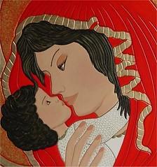 particolare di l'amore in un bacio (vittoriasalati) Tags: colore arte maria madonna rosso oro legno tavola icona vittoria immagine bambino dipinto salati inciso dipintoamano ritoccatoaolio