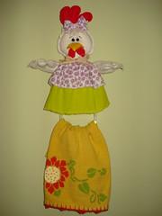 Porta pano de prato galinha (Eliani Ferreira) Tags: galinha portapanoprato