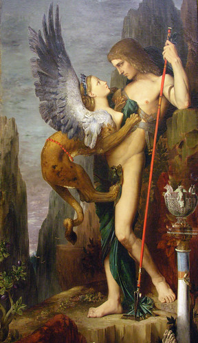 Gustave Moreau: Oedipus and the Sphinx (1864)
