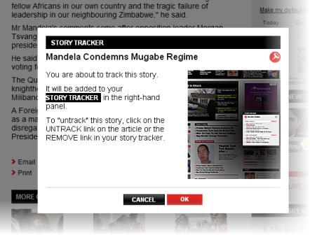 Sky News story tracker