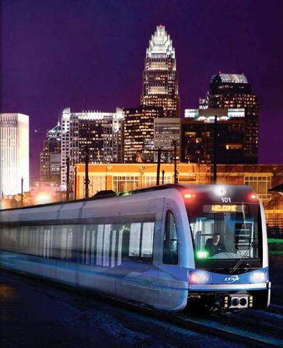 Photo of Charlotte's light rail train