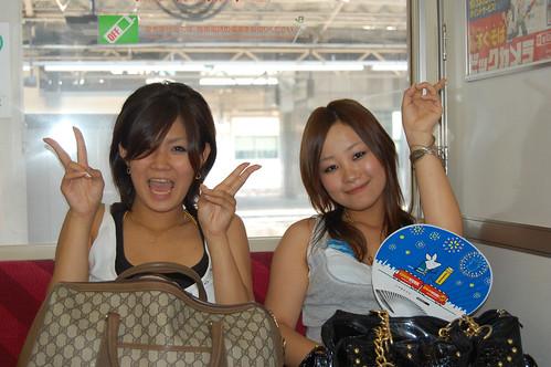 Japonesas que iban a la playa
