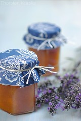 Apricot Jam with Lavender (on request) (Thorsten (TK)) Tags: blue summer food orange fruit breakfast catchycolors germany herbs sweet lavender sugar german jar apricot jam fruity jams apricots styling foodphotography preserving foodpresentation prsentation foodstyling thorstenkraska germanfoodphotography