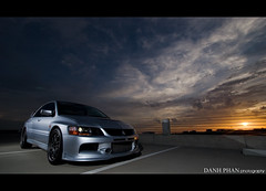 sunsetwidefront.jpg (Danh Phan) Tags: houston lancer mitsubishi evo dfan houstonimports dphan