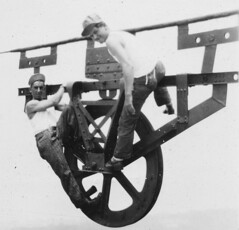 1929_08_Cablespinner (dsearls) Tags: history army wwii cable ww2 searls gwb georgewashingtonbridge corporal allenhsearls anthropocene allenhenrysearls alsearls cablespinning searlsfamilyarchive