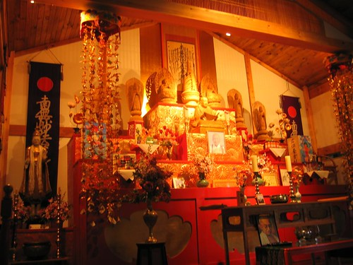 Wider view of the Buddhist shrine