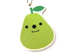 decole pear air freshener (Peachypan) Tags: cute car smiling japan japanese kawaii pear import happyface scent airfreshener decole peachypan decolello