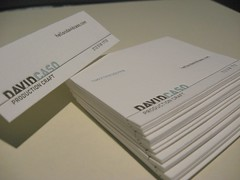 David Caso Folded Business Card