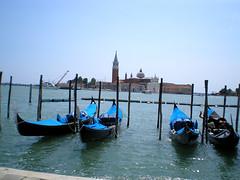 Venice, Gondolas stop