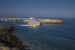 Leaving the marina (michaelgrohe) Tags: ocean vacation costa holiday beach marina island coast boat ship kanaren canarias atlantic tenerife teneriffa inseln adeje