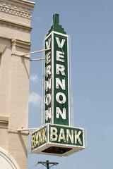 vernon bank neon sign