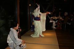 IMG_3028 (avsfan1321) Tags: blue white japan dance kyoto dancing performance makeup maiko geiko mamasan geisha tatami kimono obi gion shamisen furisode hanamachi samisen okaasan apprenticegeisha darari danglingobi