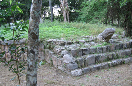 The turtle platform at the site of Old Chichen Itza, Yucatan, Mexico (Photo: AmericanEgypt.com)
