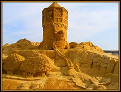 Princess castle at the Cannon Beach Sand Castle Contest