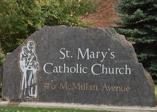 St. Mary's Church sign