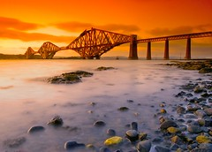 Forth Bridge Sunset II (Semi-detached) Tags: bridge sunset scotland edinburgh long exposure south shoreline rail forth shore queensferry mayweekend aplusphoto