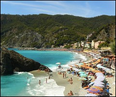 Monterosso (V of V on Cinque Terre) (Samie333) Tags: italy beach coast sunbath cinqueterre monterosso