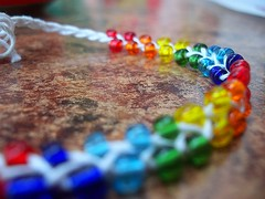 Colourful :) (JemmaJusticePhotography.) Tags: blur table rainbow blurry spain spanish bracelet string colourful jemmysaur jemmaammej