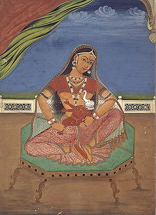 Parvati_Ganesha (India 1820)