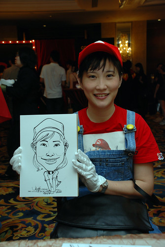 Caricature live sketching for Temasek Holdings D&D 2008 Hero Night 6