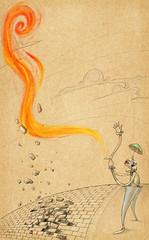 Mveis Coloniais em Goinia (ilustracionamentador) Tags: show art pencil arte picture victor draw ilustrao ilustration desenho palhao imagem rocha victorjam