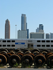 heavy, heavier, heaviest (phule) Tags: chicago train buildings steel wheels metra southloop a650 andlotsofit alsoareallyblanksky