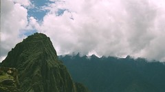 Machu Picchu in cloud