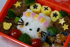 HK bento (mk family) Tags: school girls cute lunch hellokitty kitty kawaii bento lunchbox kittychan obento   92