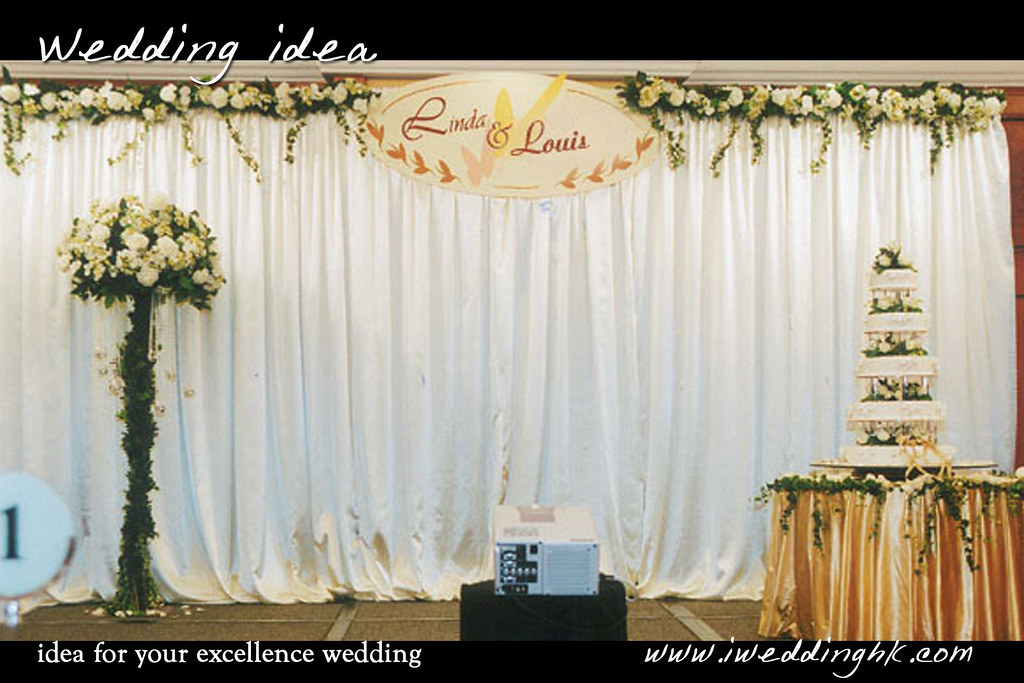 Silk Flower Backdrop with Flower Stand in Park Lane Hotal