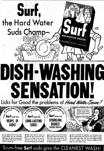 Vintage Ad #599: Surf, The Dishwashing Sensation!