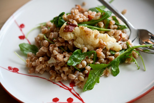 farro salad w/bacon & cauliflower