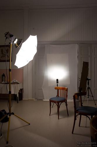 Photo shoot lighting setup