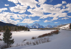 Winter Sun at the Oxbow - Wide Angle (Jeff Clow) Tags: winter landscape bravo afternoon searchthebest wyoming jpeg grandtetonnationalpark 3xp firstquality oxbowbend fdrtools jacksonholewyoming jeffrclow absolutelystunningscapes