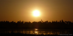 Nile Sunset Panorama, Egypt (Simon Purdy) Tags: africa sunset tree beauty river boat northafrica dusk horizon egypt middleeast palm nile tropical orient agathachristie felluca thebestofday gnneniyisi