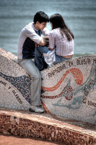 Young Lovers in Parque Del Amor