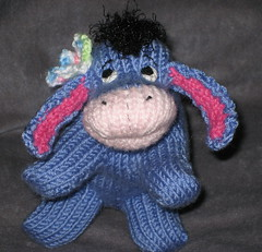 Eeyore Peep with Butterfly (theknittycat) Tags: cute animal knitting handmade character knit handknit donkey gift pooh winniethepooh knitted peeps amigurumi eeyore knittycat theknittycat