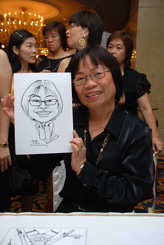 Caricature live sketching for Great Eastern Life D&D 2008 1