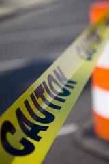 caution tape (rockmixer) Tags: yellow newjersey bokeh tape lbi longbeachisland caution jerseyshore chowderfest