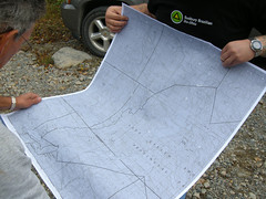 Large topo map of area