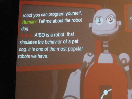 How meta.  A robot describing the AIBO