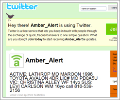 Twitter Amber Alert on the Quicken Loans Blog