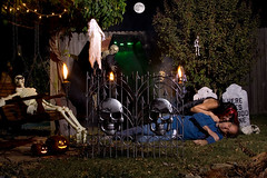 The Evil Vampiress Scene III (dart5150) Tags: black fall halloween me graveyard fog night dark dead skeleton fire skull cupcakes scary blood autum victim pumpkins fullmoon spooky nightime don series ghosts fangs coffin tombstones vampiress halloweenseries bloggedhalloween poorguyisgoingtowakeupinanotherworld