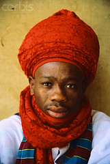 LT003018 (beckstir01) Tags: africa red people men portraits 1 nigeria males turban adults africans headgear headandshouldersportraits nigerians headcloth