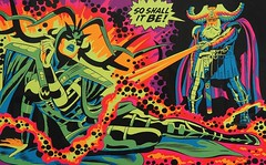 Odin- SO SHALL IT BE! (Nick Derington) Tags: light black eye john comics poster blacklight third odin thor marvel buscema