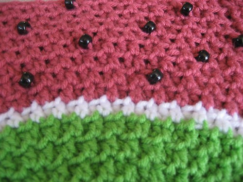 Watermelon hat detail
