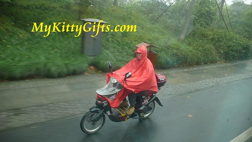 Hello Kitty's View of Motorcyclist in HangZhou