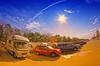 Parking in Kofu (/\ltus) Tags: japan pentax handheld freehand caravan rv hdr trailers kofu yamanashiken 5xp japanhdr k20d zil520 fisheye1017mm