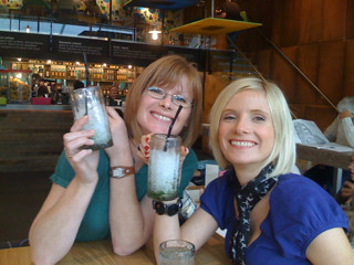 Having lunch with Nuala and Christine at Wahaca in Westfield