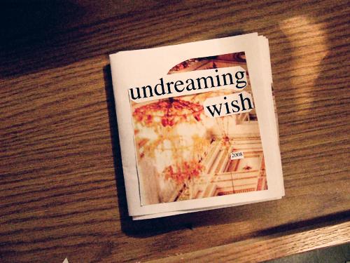 undreaming wish zine;