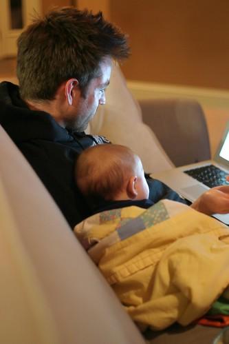 Josh & Jack on the Macbook